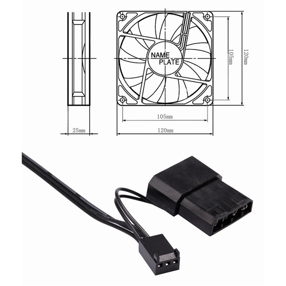 2018 New Pc Cpu Cooler 120 Mm Fan 12v Dc Brushless Computer Wire Diagram Cooling 1200prm For Video Card Thermal Pad Drop Shipping In Fans From
