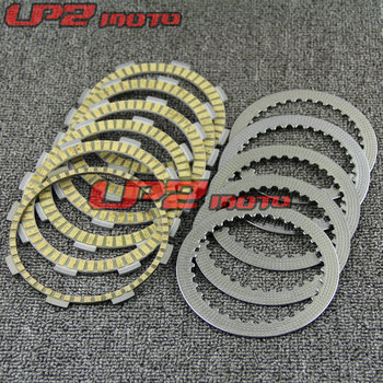For Honda CRF230F 2003-2016 CRF150R Paper Based Clutch Disc Iron Clutch Friction Kit Disc Plates Set Motorbike Parts Accessories image
