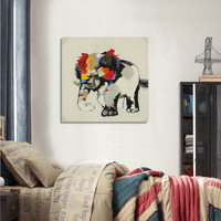 Discount Elephant Colourful Handed Painted Printed Painting Oil Painting On Canvas Oil Painting For Home Decor