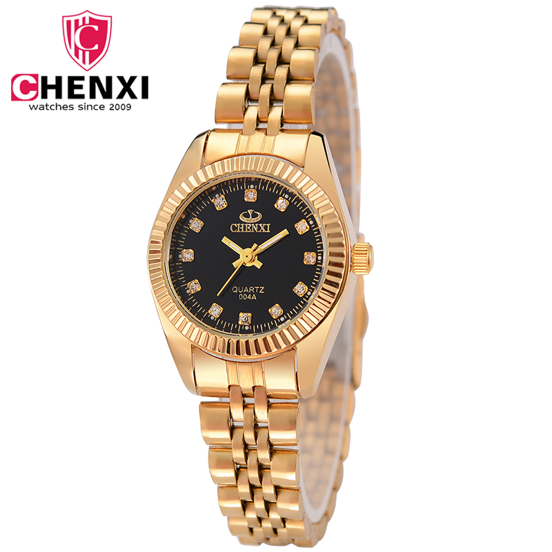 CHENXI Fashion Women Watch Luxury Gold Ladies Watch With Diamond Golden Watchband Quartz Wrist Watches Rhinestone Female Clock fashion minimalism ladies women rhinestone watch golden ceramic wrist watches items 1oey k882