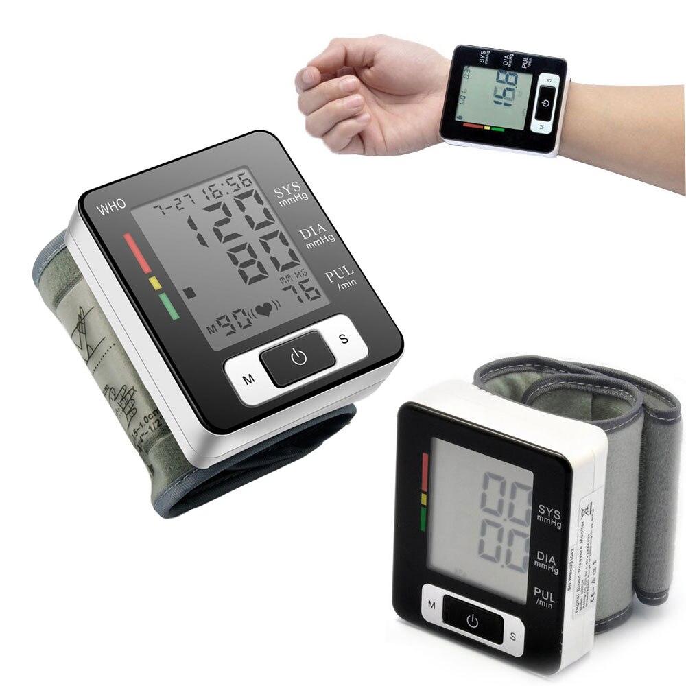 Digital Wrist Blood Pressure Monitor Portable Automatic Sphygmomanometer Blood Pressure Meter for Home Health Care Measurement