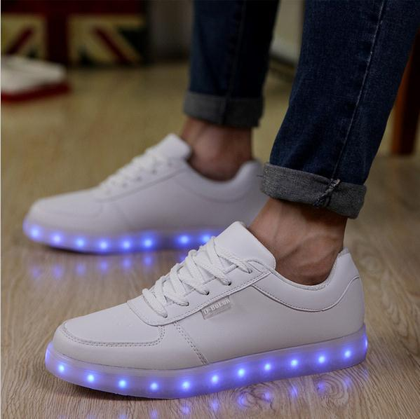 1e6df6ea57e1 Fashion LED Shoes 7 Colors light UP luminous Shoes men platform USB glowing light  up shoes for adults-in Men s Casual Shoes from Shoes on Aliexpress.com ...