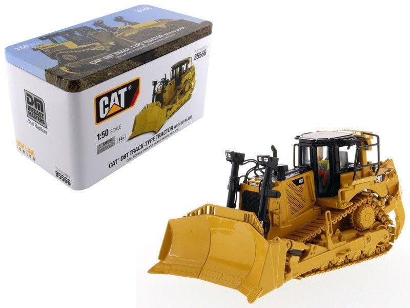 DM 1:50 chenille CAT D8T machines d'ingénierie Type de voie tracteur bulldozer moulé sous pression jouet modèle 85566 pour Collection, décoration