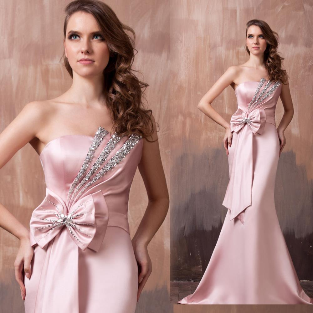 free shipping maxi 2018 new fashion design fish tail vestidos formales pink long vestido beaded Mermaid   bridesmaid     dresses