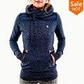 2015 мода капюшоном с длинным рукавом карман вышитые толстовки обнаружить новый женский толстовка весна осень свободного покроя толстовка женщины пуловер