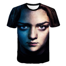 BIAOLUN Game OF Thrones Arya Stark List Man T Shirt Short Sleeve Tops Big Size Novelty Crewneck Tees Casual Hipster T-Shirt