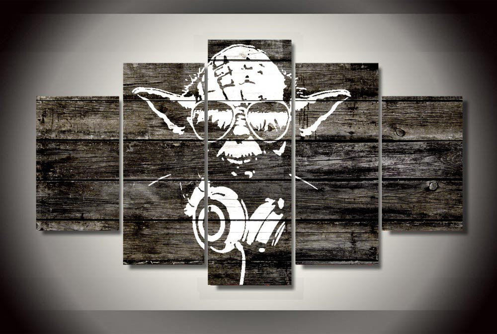 star wars wall art wars master yoda 5 pieces home decoration canvas picture 11702