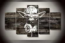 Star Wars Master Yoda 5 Pieces Home Decoration Canvas Picture