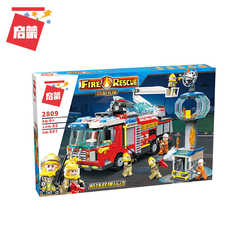 City-Fire-Airport-Rescue-Operation-Spray-Water-Truck-Firemen-Car-Building-Blocks-Sets-Bricks-Model-Kids (5)