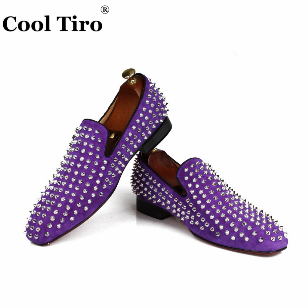 spikes Loafers purple suede  (5)