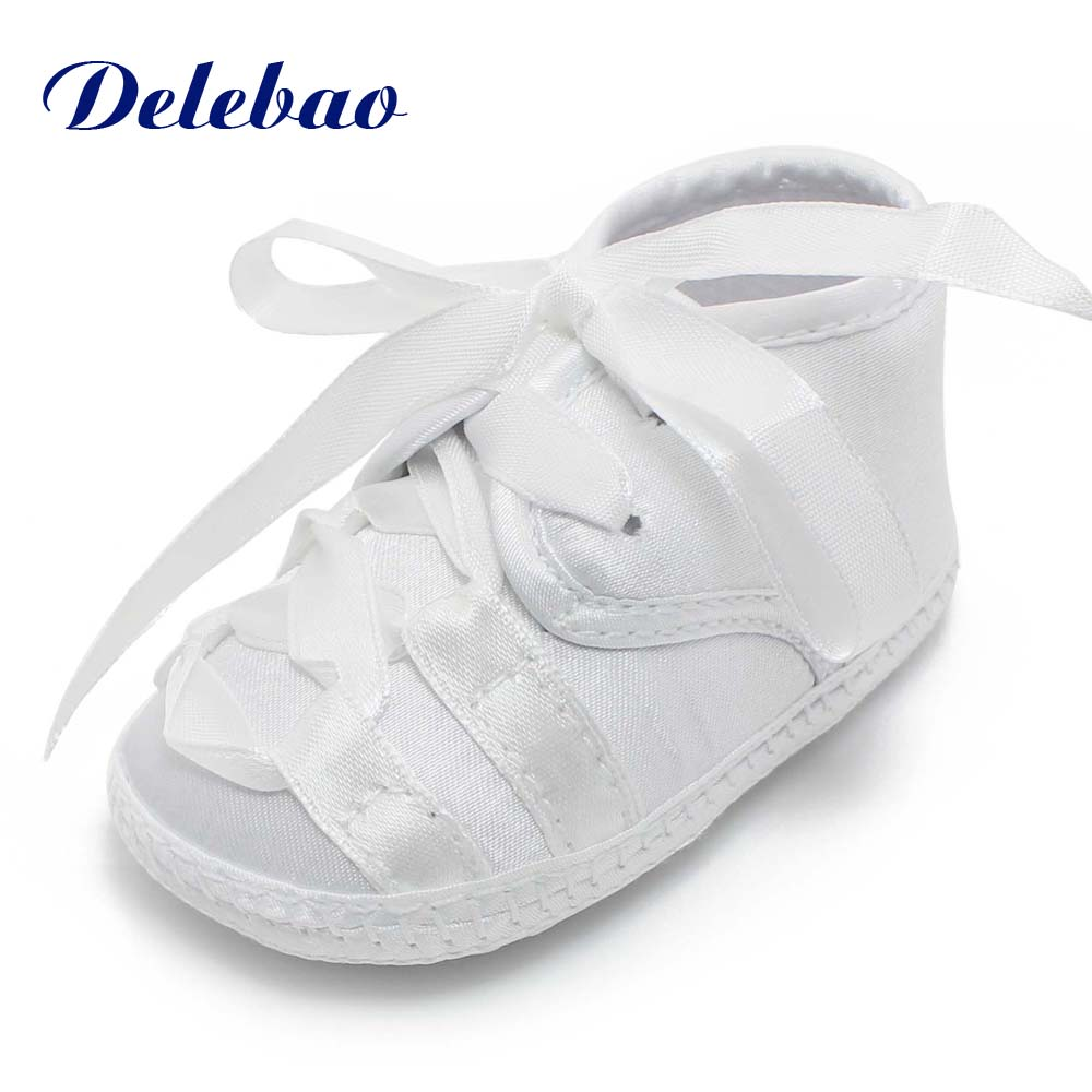 The Cross Baptism Baby Girl Shoes Love Heart Design Pu Butterfly-knot First Walkers Soft Sole Christening Shoes