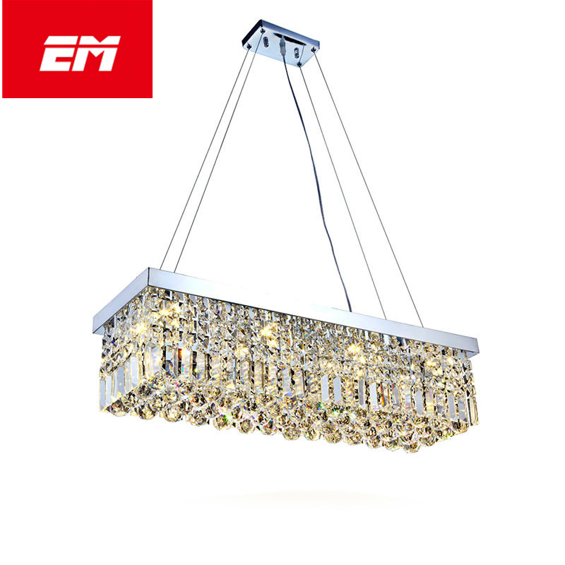 LED Modern Crystal pendant Light Fixture pendant Hanging lamp for Kitchen Dining Room Decoration E14 Bulb Pendant Lamp ZDD0058 post modern creative 20 head pendant light toolery e14 3w led bulb warm droplight living dining room home decoration fixture