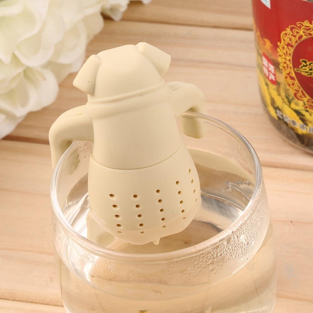 Dog Shape Tea Infuser Loose Leaf Strainer Herbal Silicone Filter Diffuser Popular New