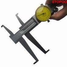 Ножевой Внутренний канавок 9-150 мм циферблат штангенциркуль из нержавеющей стали длинные когти внутренний штангенциркуль измерительные инструменты внутренний кронциркуль