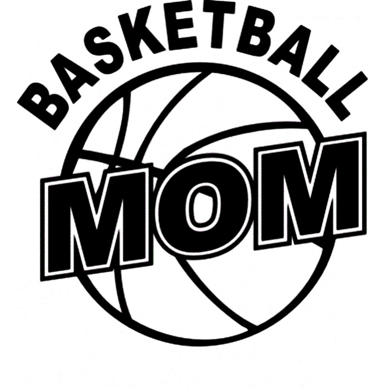 12.7CM*12.7CM Basketball Mom Vinyl Decal Sticker Car Styling Funny Car Sticker  Decals and Accessories Black Sliver C8-0897