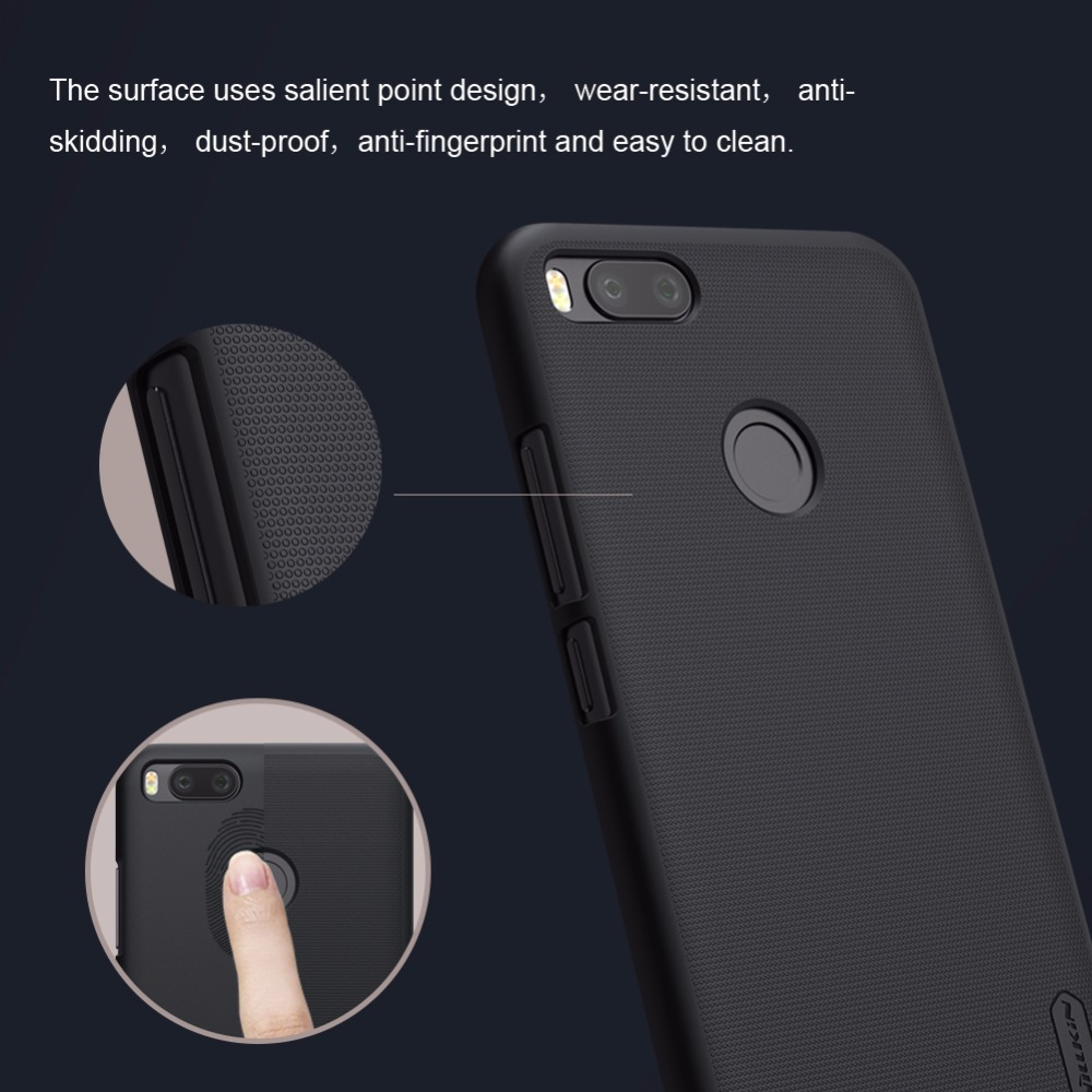 outlet store ccc29 d4f4b case for xiaomi mi a1 case cover 5.5'' NILLKIN Frosted PC Plastic hard back  cover + Phone Holder for mi a1 case for mia1