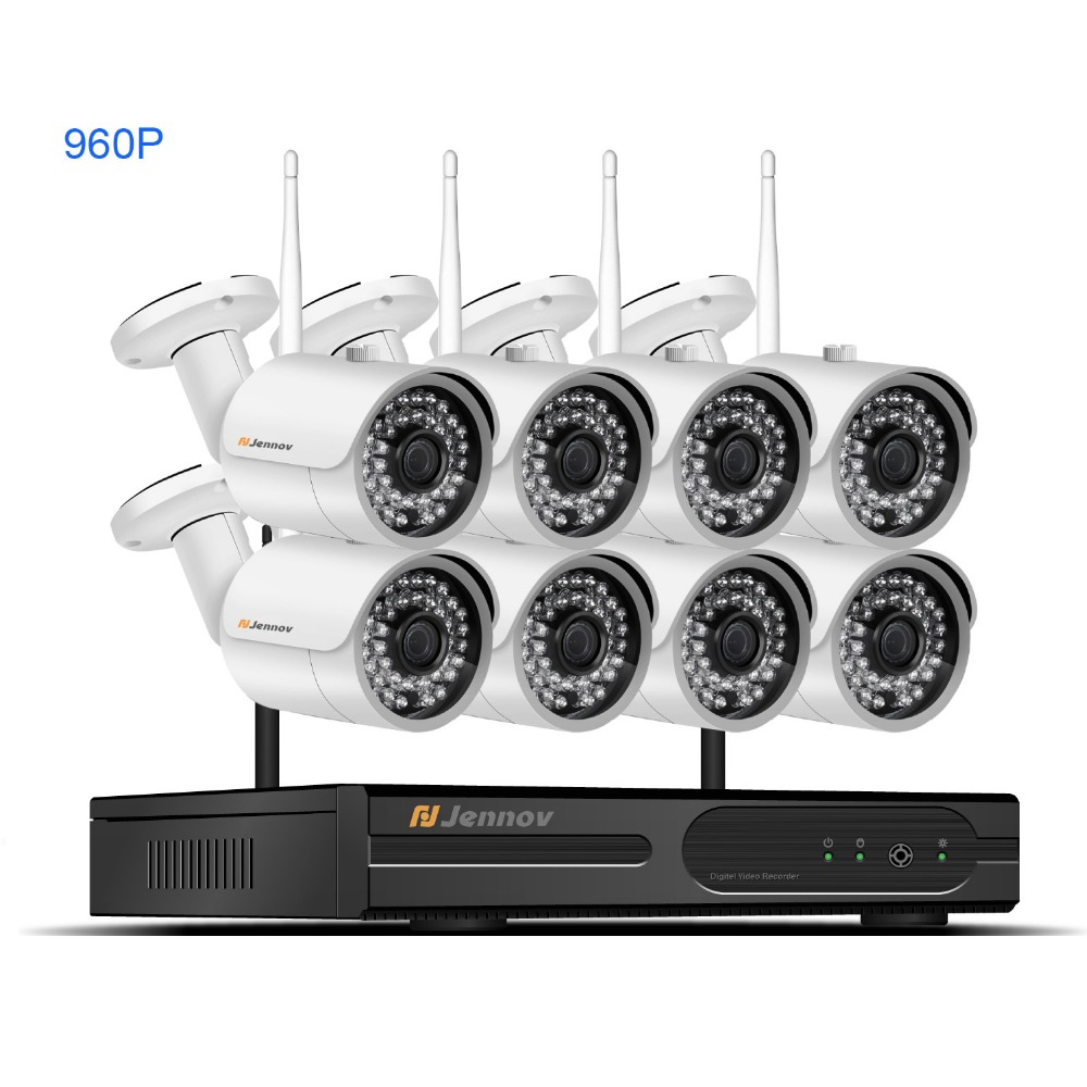 где купить HD 8CH CCTV Kit 960P Home Wireless CCTV Security Camera System With NVR HD Wifi Video Outdoor Surveillance Kit APP Remote View дешево