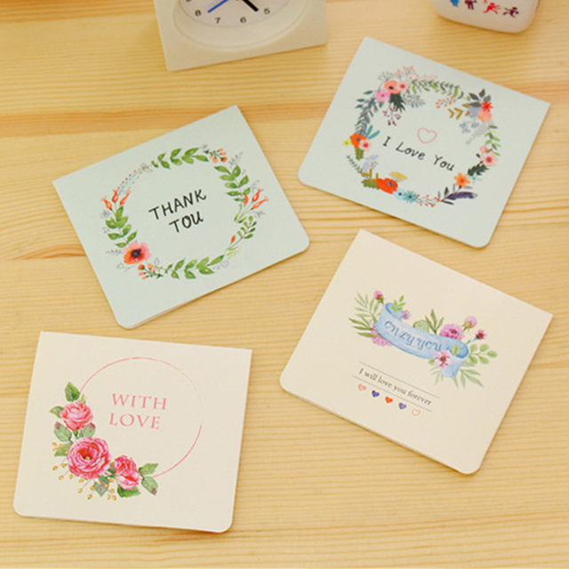 Online shop 10pcs elegant paper flower mini birthday greeting cards 10pcs elegant paper flower mini birthday greeting cards multi style birthday gift cards valentines day card thank you cards bookmarktalkfo Images