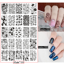 Nail Stamping Plates 2018 New Arrival 14.5*9.5cm DIY Template Art Polish 3D Placas Nails Stencils