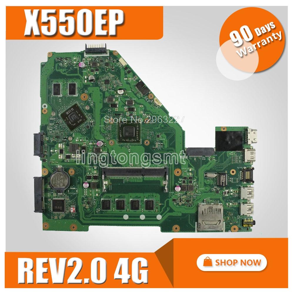 X550EP Motherboard REV2.0 For ASUS F552E F552EP X552E X552EP Laptop motherboard X550EP Mainboard X550EP Motherboard test 100% OK