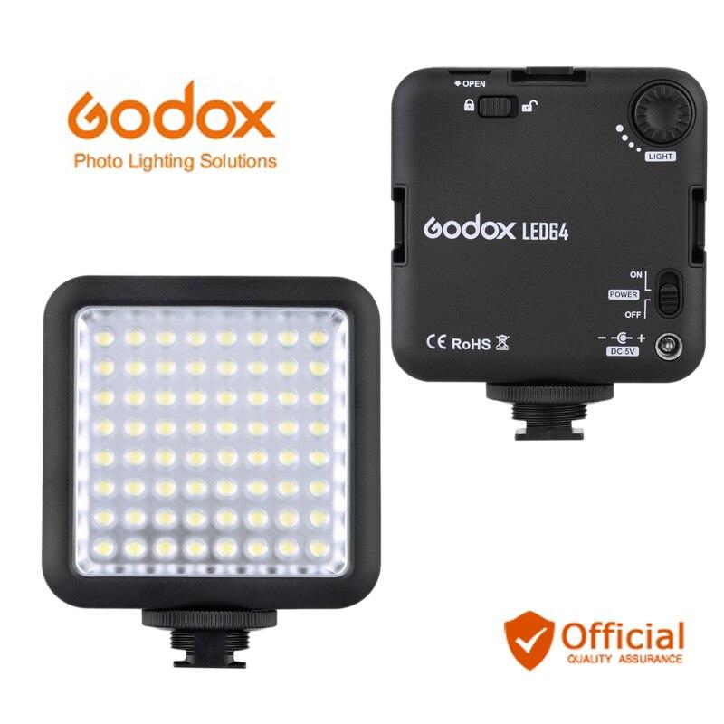 Godox светодиодный 64 светодиодный видео светодиодный светильник для DSLR камеры видеокамеры Мини DVR как заполняющий светильник для свадьбы Нов