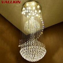Современный K9 большой светодиодный светильник в виде спирали для гостиной, хрустальные люстры, светильник для лестничной лестницы, витрина для спальни, гостиничного зала