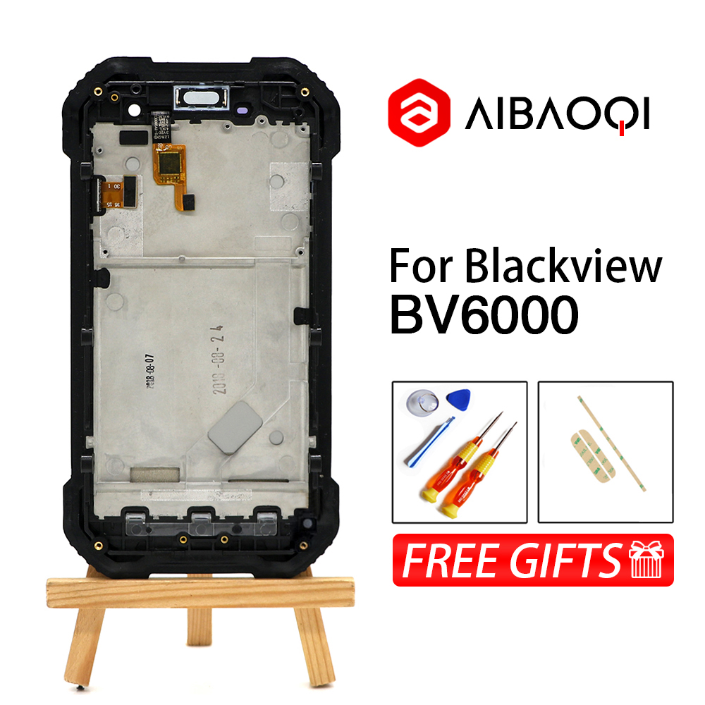 New Original 4 7 inch Touch Screen 1280X720 LCD Frame Assembly Replacement For Blackview BV6000 BV6000s