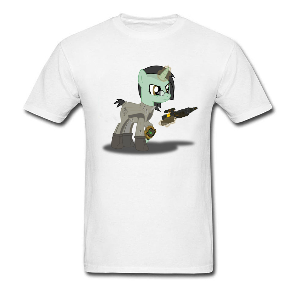 Big Size Pure Cotton Fabric Clothes Spring Tops & Tees Funny Cartoon Pony Play Video Game T Shirt Unique Awesome T-Shirts Online