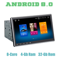 10.2 IPS touch screen two din Android 8.0 universal car GPS dvd Stereo player octa core 4+32G wifi 4g usb
