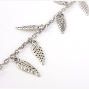 2017 New Alloy Leaf Leaves Tassels Anklet Chain Simple Sandy Beach Bohemia Foot Ankle Bracelets For The Feet Bijoux De Pied Gift 2