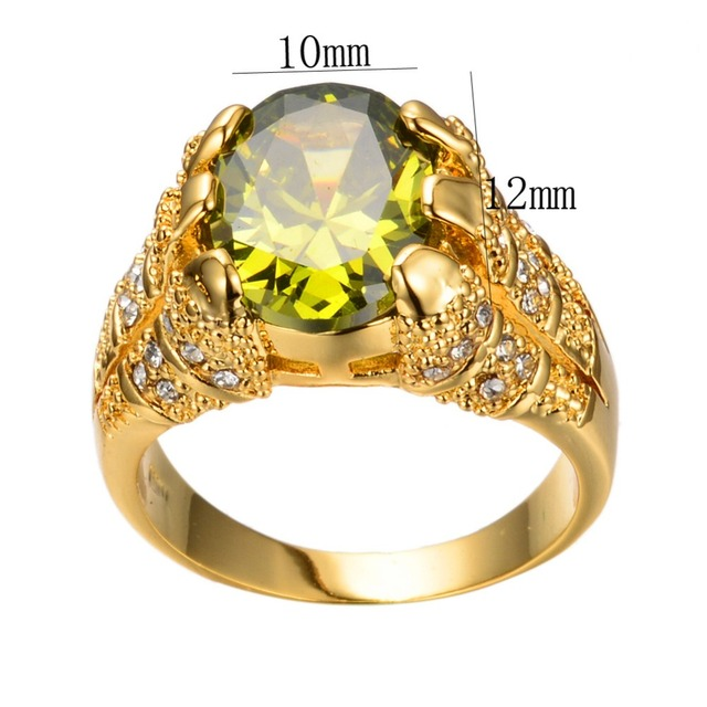 Oval Luxury Big Crystal Zircon Stone Ring 3
