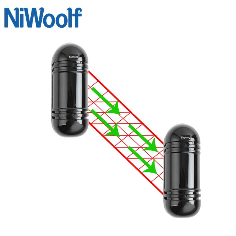pir com fio detector de feixe ip54 a prova dwaterproof agua ao ar livre ir sensor