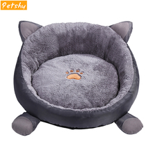 Petshy Round Pet Dog Cat Beds Sleeping Mats Soft Comfortable Thick Plush Animal Puppy Cushion Sofa Washable Cats Nest Kennel