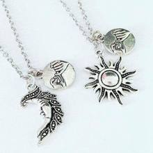 Sun&Moon Necklace Pendant Hand In Hand Pinky Swear Promise Best Friends Couples Choker Friendship Necklace For Women Jewelry New(China)