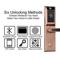 Eseye WIFI Smart Door Lock Fingerprint Home Apartment Entry Wireless App Phone Bluetooth Password Card Unlock Keyless Door Lock