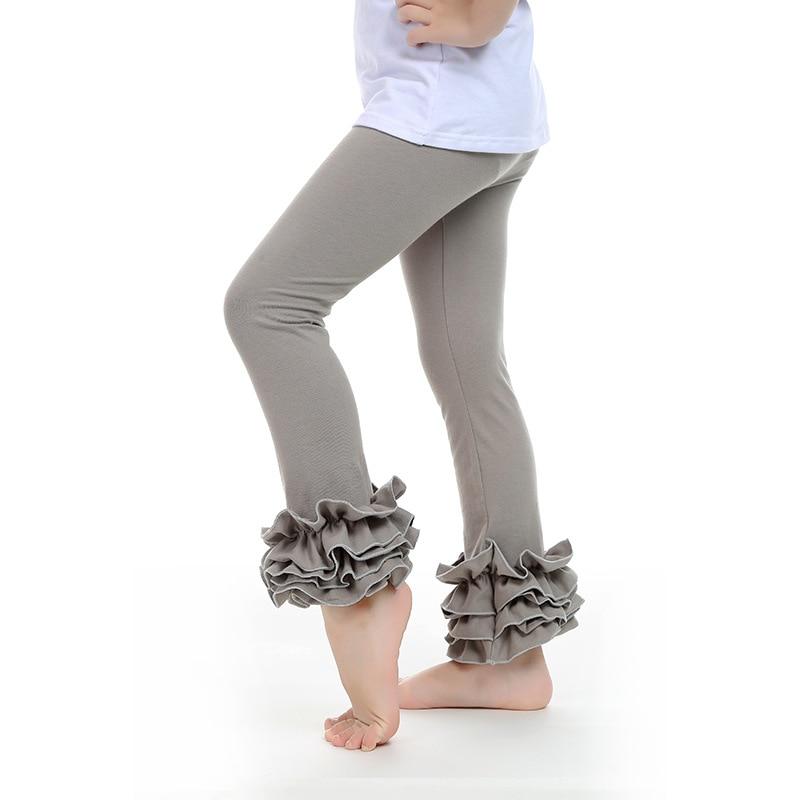 57967489ac5ed Buenos Ninos Baby Girl Ruffle Leggings Kids 100% Cotton Trousers ...