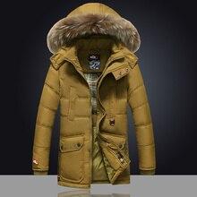 2016 winter neue herren-jacke männer lange abschnitte dicker mantel Koreanische Dünne jugend-season freiheit