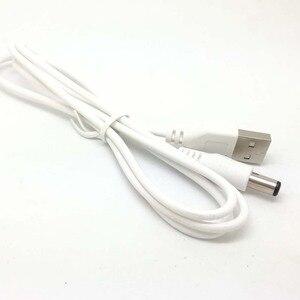 Image 2 - חדש לבן מחשב נייד זכר USB 5V DC 5.5mm x 2.1mm חבית מחבר כבל חשמל מטען כבל