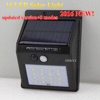 Updated Version 16 LEDS Solar Light Solar Motion Sensor Wall Lamp Waterproof Outdoor Garden Yard Path Fence Emergency Lightings