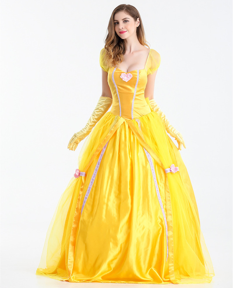 Disney princess belle yellow dress.