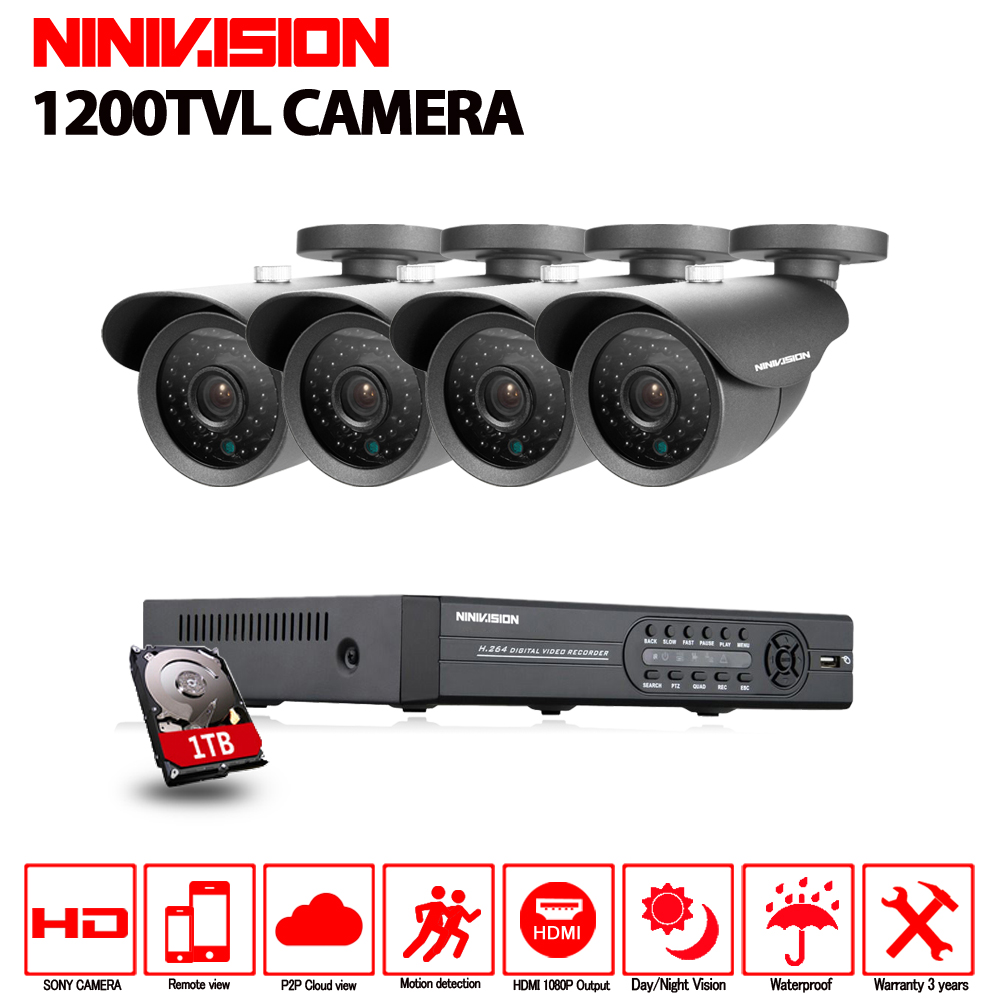 4CH 1080P HDMI 1080N DVR SONY 1200TVL HD Outdoor Security Camera System 4 Channel CCTV AHD DVR Kit Nightvision CCTV Camera Set ahd 4ch 1080n hdmi dvr 1080p 2 0mpp hd outdoor security ahd camera system 4 channel cctv surveillance dvr kit ahd camera set