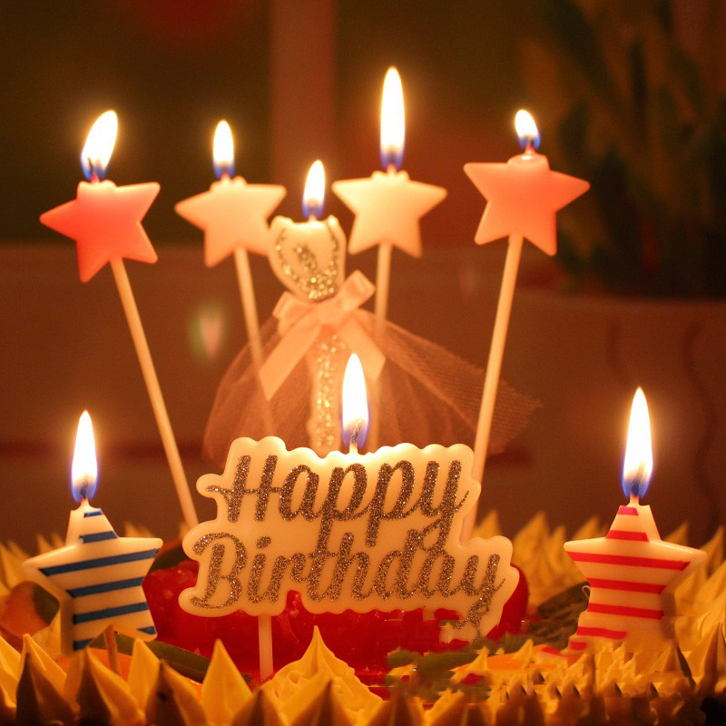 Awesome Birthday Candle Happy Birthday Stars Candle For Birthday Cake Personalised Birthday Cards Veneteletsinfo