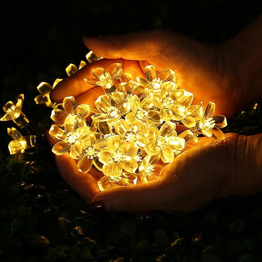 solar lamps bloom strings light for christmas fairy (16)