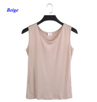 New Arrival Pure Silk Knitted Women Tops 100 Natural Silk Sleeveless Vest 100 Silk Lady Loose