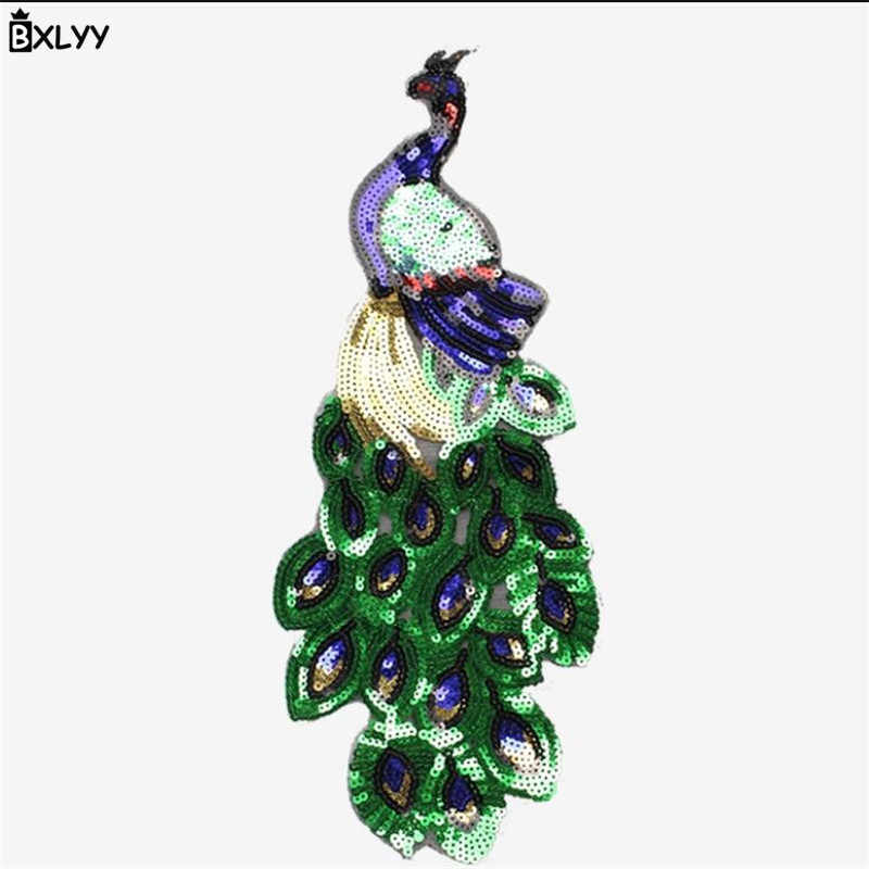 BXLYY Peacock Sequin Zona Del Ricamo di Applique Della Decorazione di DIY Dress Accessori Decorazione di Cerimonia Nuziale Del Bambino Doccia Casa Decoration.7