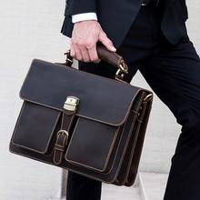 6f451ea6984ab خمر حقيبة رجالي صغيرة من الجلد الطبيعي 16