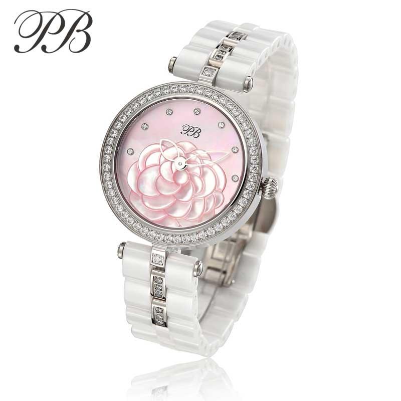 New Lady PB Top Marka Luxury Fashion Watch Kobiety OEM ceramiczne - Zegarki damskie - Zdjęcie 2