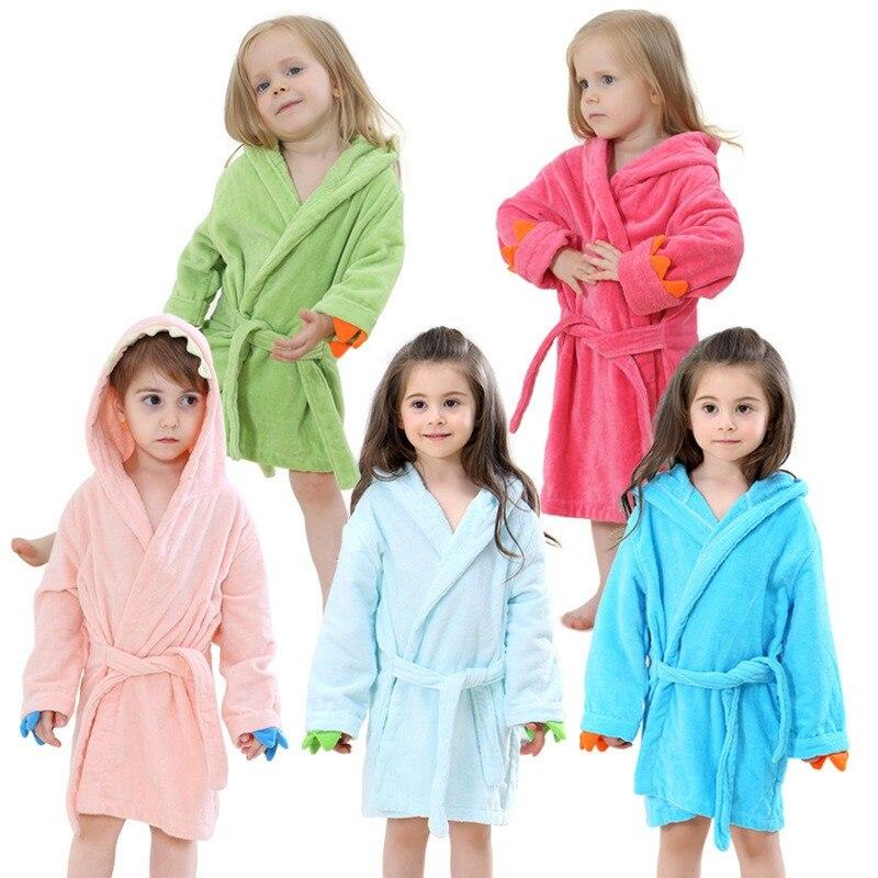 Underwear & Sleepwears Robes Bathrobe Kids Boys Robes Children Bathrobe Hooded Cap Soft Velvet Robe Pajama Kids Cotton Warm Clothes Baby Lovely Home Clothes