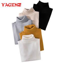 YAGENZ осенне-зимний свитер женский вязаный джемпер эластичная водолазка с длинными рукавами пуловеры женские вязаные свитера