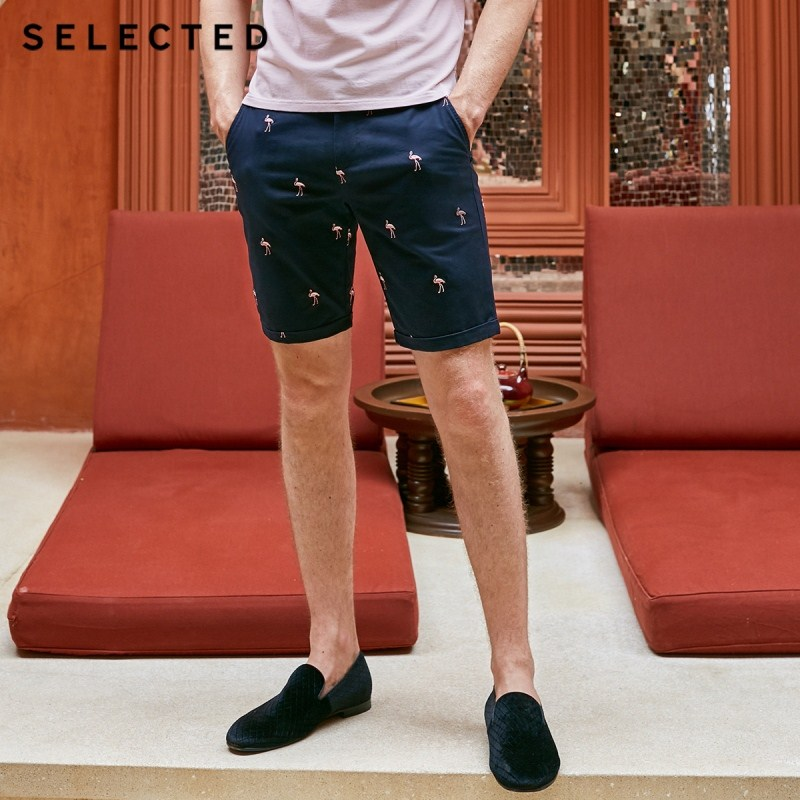 SELECTED Men's Animal Embroidery Pattern Shorts S|4192SH544